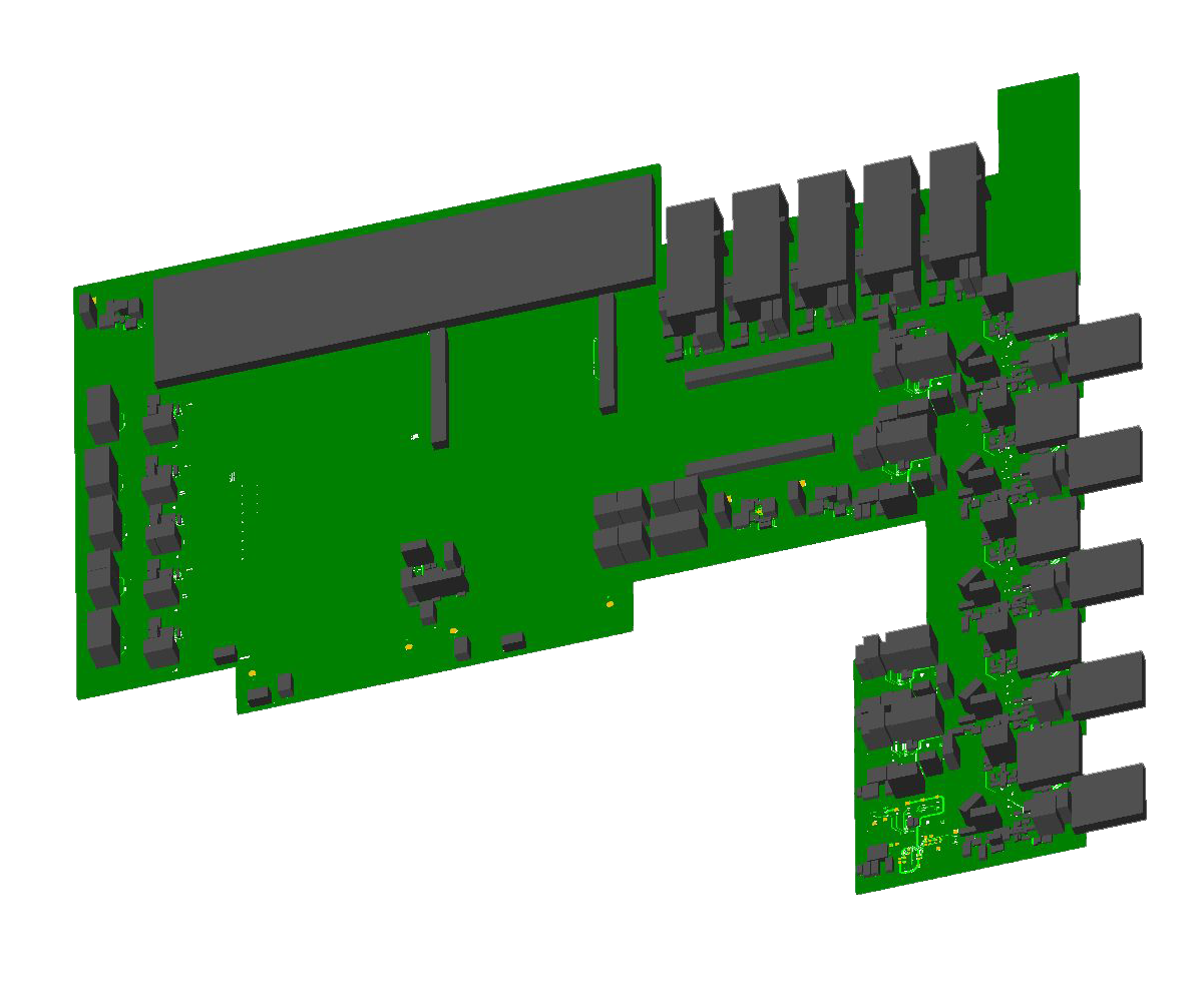 large HDI board 3d view